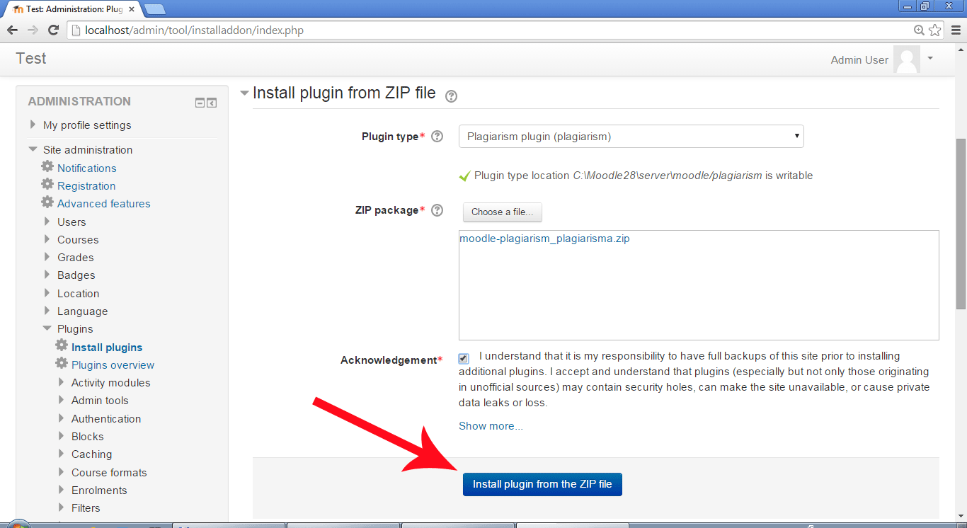 moodle 2 plugin for plagiarism detection net skip this step if you use moodle 2 plugin installer